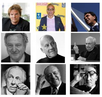 Encuesta: ¿Quién es el arquitecto más conocido?